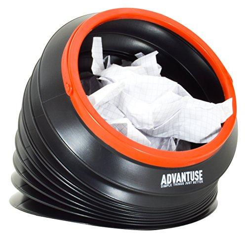 ADVANTUSE - Auto-mülleimer 4 Liter auch für Camping, Angeln und Festival - faltbar, kompakt, tragbar, auslaufsicher und wiederverwendbar [ Das Original ] (Faltbare Angeln Boot)