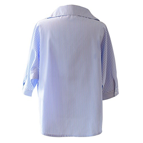 Yalatan Women's Fashion Long Denim Jackets Coats Outerwear Plus Size Blue