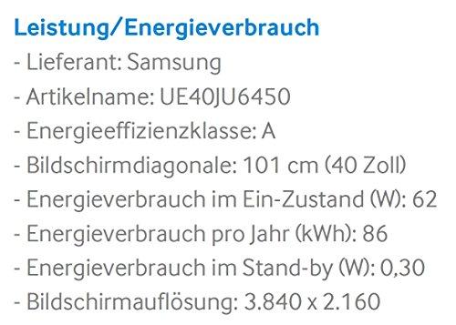 Samsung UE40JU6450 101 cm (40 Zoll) 4k-Fernseher - 3