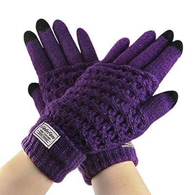 Herren Damen Handschuhe mit Touchscreen Funktion Winter Warme Handschuhe Smartphone Touch Gloves