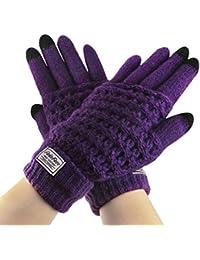Bekleidung Camping & Outdoor HIFUN 13357 hi-Call Frau lila Fingerhandschuhe Damenhandschuhe