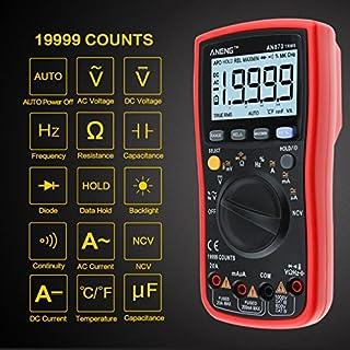 Multimeter, 4EVERHOPE AN870 Digital-Multiprüfer True RMS 19999 zählt Auto Ranging Meter für AC / DC Spannung und Strom, Widerstand, Kapazität, Diode, Frequenz, Duty Cycle Testing mit LCD-Display