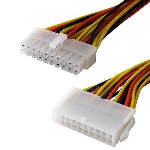 BestPlug 30cm internes PCI Strom-Kabel für Computer, 20pol Stecker männlich auf 20pol Buchse Kupplung weiblich Array Pole