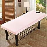 Lenzuola elasticizzate universali per lettino da massaggio, con foro per il viso, 2 pezzi, per letto di bellezza, sofà e spa, per saloni di bellezza, colore: rosa