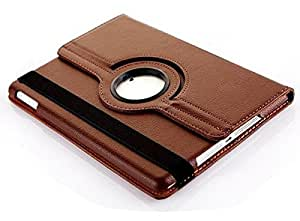 G-STAR Premium Leather 360 Rotating Flip Cover for Apple Ipad Air - Brown