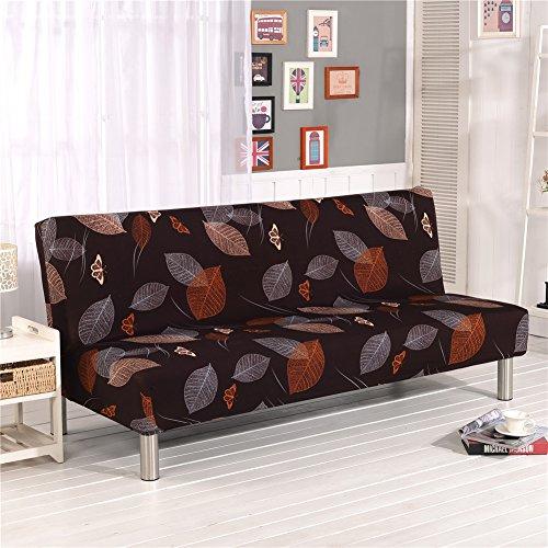 Cornasee Sofabezug 3 sitzer ohne armlehne - Clic Clac Sofahusse stretch Bettcouch Schonbezug Blumendruck