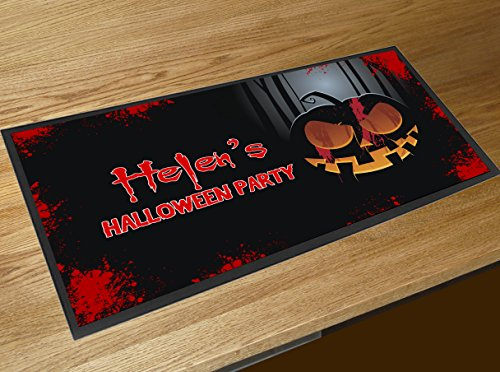 personalisierbar Halloween Kürbis Name Party Pub Bar Runner Zähler