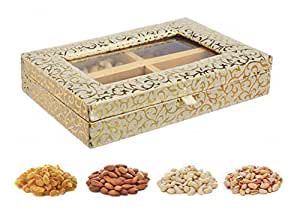 Traditional Style Windowed Diwali Dry Fruits Gift Pack, 400g