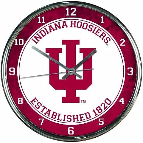 Indiana Hoosiers cromado reloj de pared