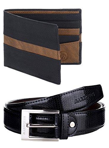 MarkQues Men's Wallet And Belt Combo (DEX-220102 CL01)