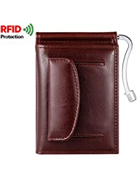 Men RFID Multi-Card Trifold Passcase Slim Front Pocket Leather Wallet With Coin Pocket/Credit Card Holder/Money...