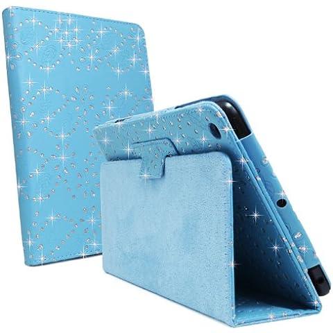 Glitter, colore: turchese blu cielo, motivo floreale