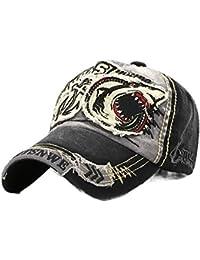 XZDXR Sombrero hombres temporada lavado gorra de béisbol damas tendencia  tiburón personalidad Europa y ... b0f75981aeb