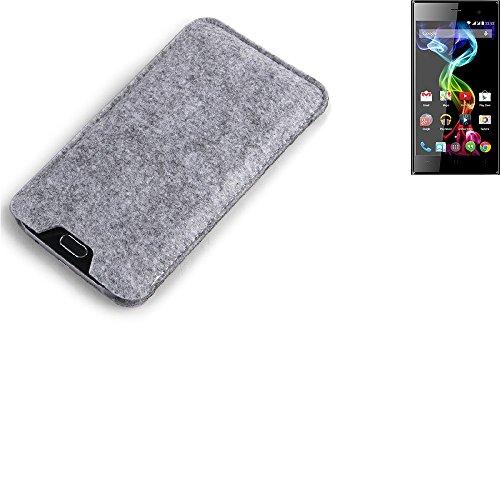 K-S-Trade Filz Schutz Hülle für simvalley Mobile Pico RX-482 Schutzhülle Filztasche Filz Tasche Case Sleeve Handyhülle Filzhülle grau