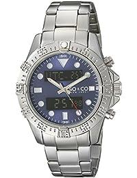 SO & CO New York 5017.2 - Reloj de cuarzo para hombres, plateado