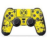 DeinDesign Folie Skin Sticker für Sony Playstation 4 Controller PS4 aus Vinyl-Folie Aufkleber Borussia Dortmund BVB Fanartikel