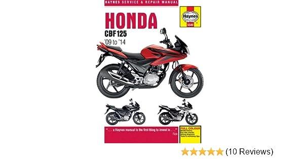 honda cbf125 2009 20 14 haynes service and repair manuals amazon rh amazon co uk honda cbf 125 repair manual honda cbf 125 service manual