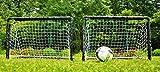 POWERSHOT Fußballtor Mini 90 x 60cm - 2er Set - inkl. Netz - Fußballtor Garten - Einfaches Stecksystem
