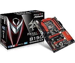 Asrock Fatal1ty B150 Gaming K4 - LGA1151 - Sixth Generation MotherBoard(LGA1151, DDR4 Upto 64GB, HDMI/DVI-D, 7.1 Channel Audio)