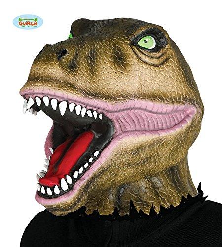 (Guirca Dinosaurier Maske für Erwachsene aus Latex Karneval Fasching Party Tier Dino)