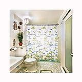 KnSam Anti-Schimmel Duschvorhang Frosch Badewanne Vorhang Anti-Bakteriell, Waschbar, Wasserdicht PEVA inkl. 12 Duschvorhangringe für Badzimmer 240x200cm
