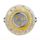 Wddwarmhome Retro Spotlights Led Ceramic Corridor Lights 3W Ceiling Lamp Downlight White 2pcs