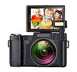 Videokamera Digitalkamera Full HD 1080P Kamera 24,0 Megapixel 4x Digitalzoom einziehbare Taschenlampe Camcorder 3-Zoll-Bildschirm