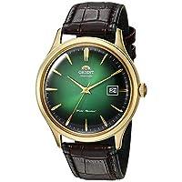 Orient Unisex volwassene analoog automatisch horloge met lederen armband FAC08002F0