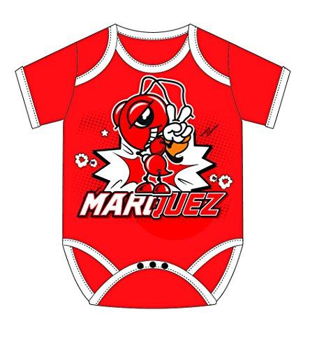 4a83d1a465647 MotoGP Apparel Body Cartoon Ant Rouge, 68 cm(6-9 Meses) Unisex bebé