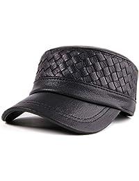 RONGLINGXING Sombreros de Invierno para Hombre Sombrero Gorro Plano  Masculino Cuero de Primavera Gorro de algodón 2f960c34172