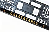 Galatasaray Fussball Fanartikel 2 Stück CAE Industry Premium Qualität Kennzeichenhalter 52 cm X 11 cm 3D Galatasaray Aufschrift UV Beständig !!!!! Nicht FÜR at & CH Passend !!!!! (2)