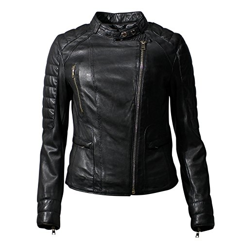 OAKWOOD Lederjacke LEVEL women - noir black schwarz