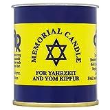Kosher Ner Neshama - koscher Jahrzeit und Jom Kippur (Memorial Light) für jüdische Gedenkstätte - judische Kerze - Grablicht. Aus Israelischer Shomer Shabbat Fabrik