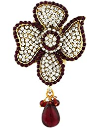Silveria High Quality Plating Gold Plated Party Wear BroochFor Women And Girls