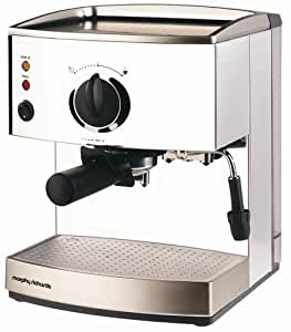 Morphy Richards 47505 Roma Stainless Steel Pump Espresso Coffee Maker