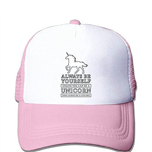 a1c8a8219 DIYoDGG Always Be Yourself Unicorn Dab Custom Baseball Cap Trucker Mesh Hat