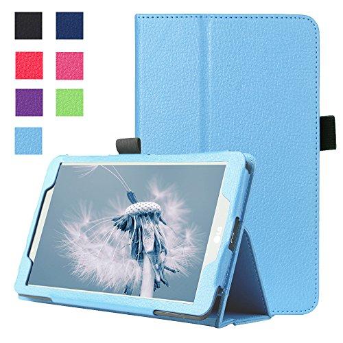 Forhouse Hülle LG G Pad 2 8.0 V498, PU Ledertasche Flip Magnet Etui Mit Standfunktion Ultra Schlanke stoßfest Schutzhülle für LG G Pad 2 8.0 V498 (Sky-Blue)