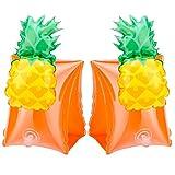 Sungpunet nuoto bambino braccioli, leggerissimo gonfiare ananas nuoto Armband anello Galleggiavano per bambino piscina protezione arancione