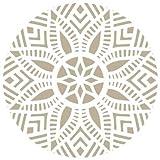 Alles Stencil Mini Deco Damast 023Mandala, Maße: 12x 12cm–Stencil Design 10x 10cm