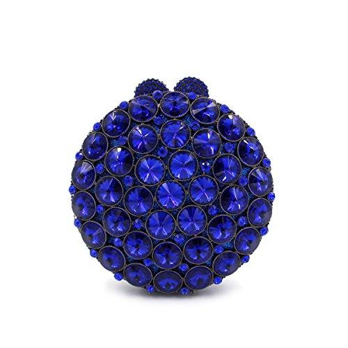 STRAWBERRYER Sac De Banquet De Diamant De Haute Qualité Des Femmes Euroaméricains élégant Mode De Mariage Simple Embrayage Wallet blue