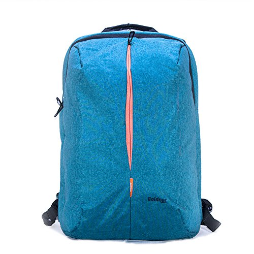 Boldner BNR3123KSW Laptop-Rucksack für 39,6 cm (15,6 Zoll) große Laptops, aus Nylon, mattiert, Blau