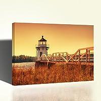 Quadro Faro Rosso Stampa su Tela Canvas Quadro Moderno 80x53cm