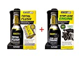 XADO Öl-Verlust-Stop & Motor Ölsystem-Reiniger - Stop Leak Engine & Total Flush- Atomex 2er Set