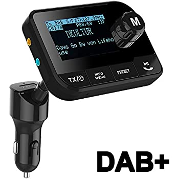 blufree in car dab radio adapter fm transmitter amazon. Black Bedroom Furniture Sets. Home Design Ideas