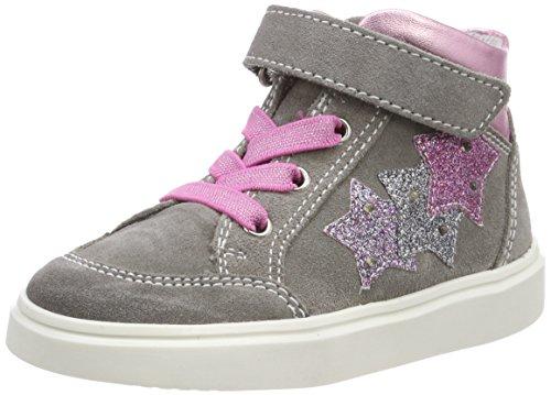 Richter Kinderschuhe Mädchen Blinki (Flora) Hohe Sneaker, Grau (Rock/Candy/Silver/Eggplant/Fuchsia), 29 EU