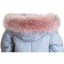 Escudo Largo De Piel SintéTica De ECYC® Hood Falso Abrigo De Piel De Mapache Bufanda Para Abrigo De Invierno 70-90cm