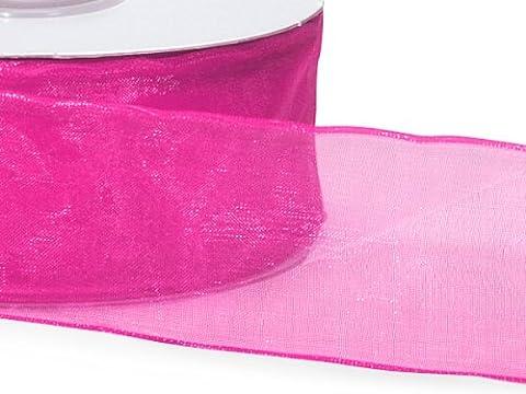 Fuchsia Wired Encore Sheer Ribbon1-1/2 inch X 25 Yds 100% Nylon