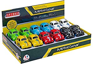 GLOBO- Mini Car Die Cast Pull Back 6 12 Piezas D/Box (37943), (1)
