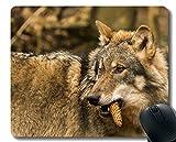 Yanteng Tapis de Souris de Jeu personnalisé, Tapis de Souris de Jeu antidérapant pour Loup prédateur de la Faune