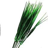 joyliveCY 7 Gabel Green Grass Kunstpflanzen für Den Plastikblumen Haushalts Shop Schreibtisch Rustikale Clover Pflanze